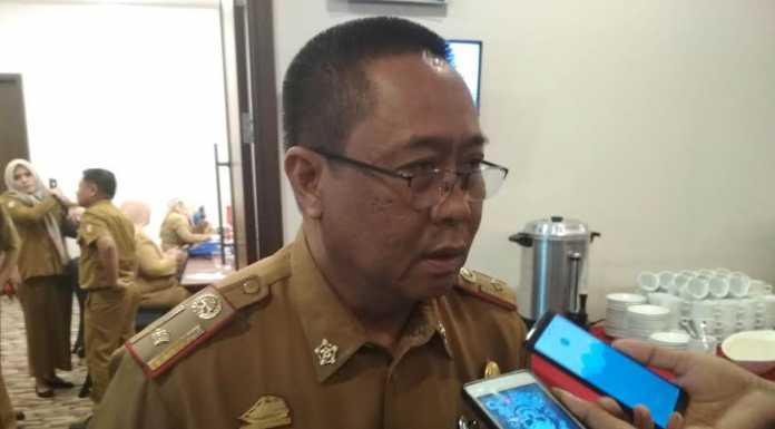 Kepala Dinas Komunikasi dan Informatika (Diskominfo) Kota Makassar, Ichwan Jacob, saat memberi keterangan ihwal pembinaan dan pengembangan startup dan pengelolaan Makassar Teknopark kepada pelaku usaha muda dan mahasiswa.