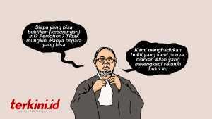Bambang Widjojanto, kartun Bambang Widjojanto, karikatur Bambang Widjojanto, statement Bambang Widjojanto, pernyataan Bambant Widjojanto