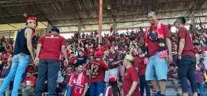 Suasana di stadion jelang laga PSM vs Persija Jakarta yang batal digelar, Minggu 28 Juli 2019.(terkini.id/kamsah)
