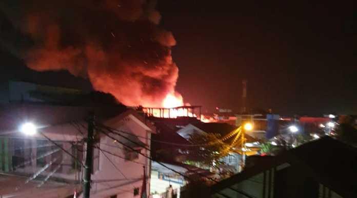 kebakaran di Jalan Baji Pamai 3, Kecamatan Mamajang