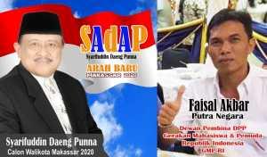 Faisal Akbar Putra Negara, Ketua Tim Kampanye Pemenangan Bakal Calon Wali Kota Makassar Syarifuddin Daeng Punna (SAdAP)