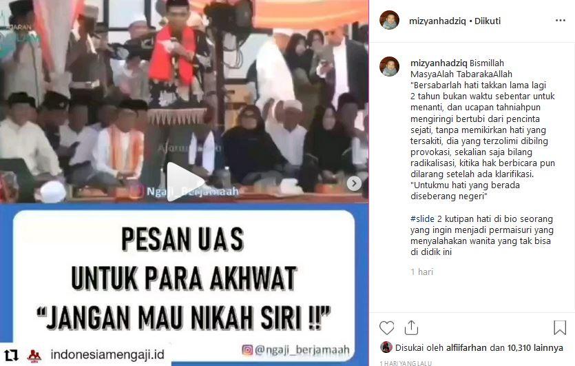Mantan Istri UAS Kembali Bikin Heboh: Posting Video UAS ...