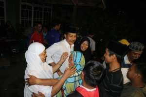 Kepala Desa terpilih Bonto Haru yang juga adalah petahana, Baharuddin, S. Pd