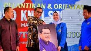Pelantikan KNPI Sulsel saat dihadiri gubernur Nurdin Abdullah