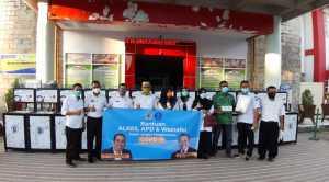 Anggota DPR RI Kamrussamad dan BI Salurkan APD, Alkes untuk Tenaga Medis di Pangkep