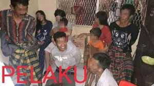 Satu keluarga yang menjadi terduga pelaku pembunuhan di Bantaeng diamankan aparat polisi.(ist)