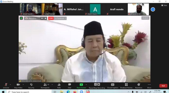 Ketua STAI DDI Kota Makassar Membuka ICSHAIS 2020, Partisipasi 7 Negara dengan 3 Benua