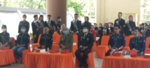 Penyambutan finalis duta Wisata Sulsel di kebun raya Jompie Parepare